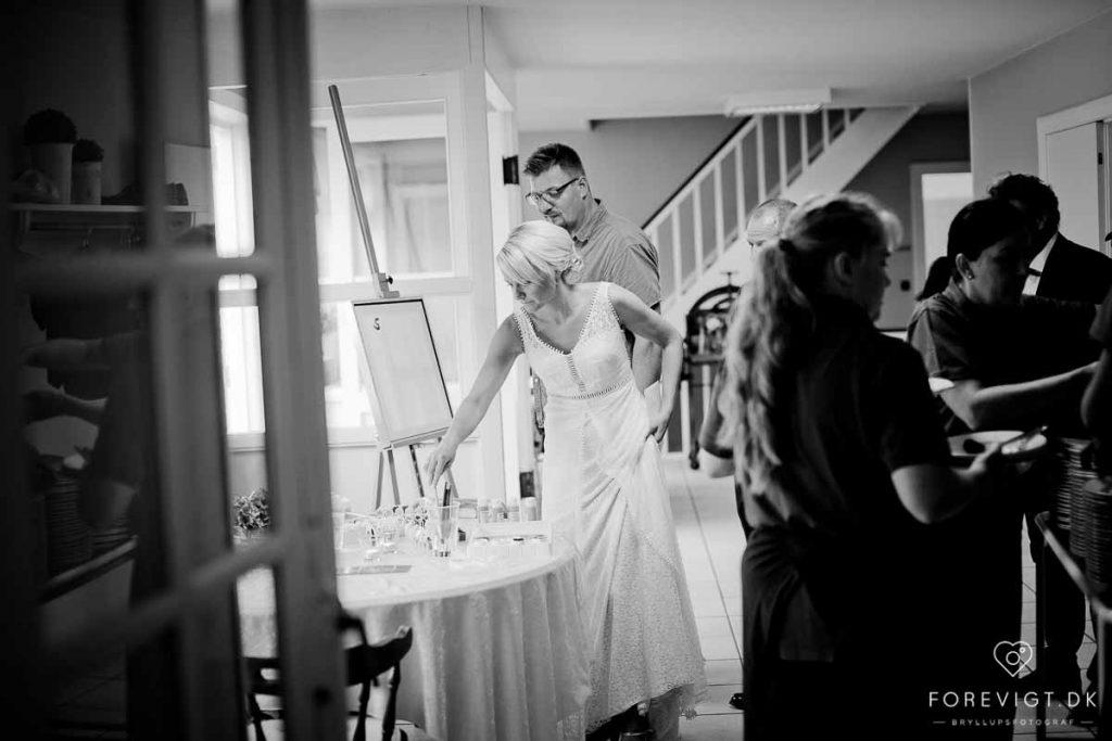 bruden ved bryllup